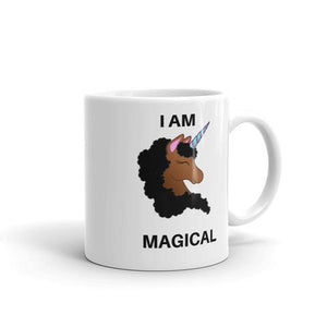 Personalized Brown Skinned Unicorn Mug