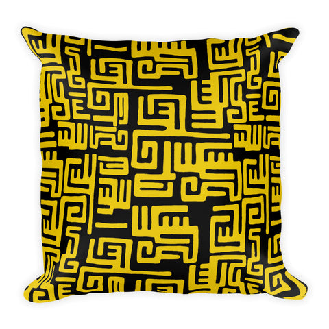 A Tribe Called Yellow Square Pillow