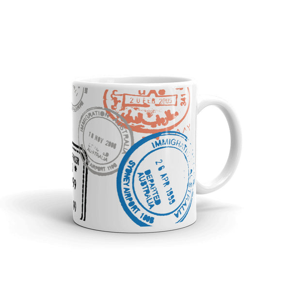 Passport Stamp Mug