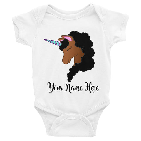 Black Unicorn Personalized Bodysuit