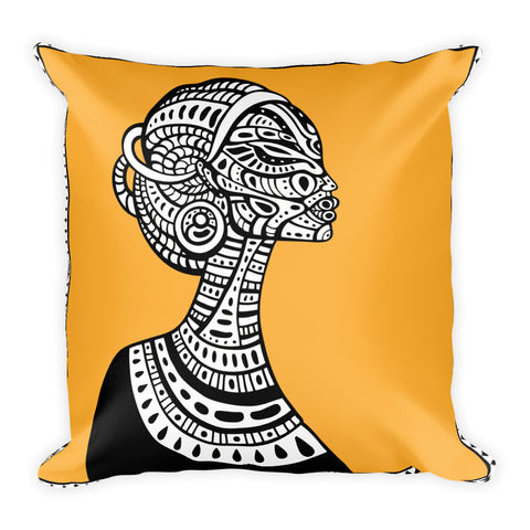 Tribal Woman - Double Sided Square Pillow