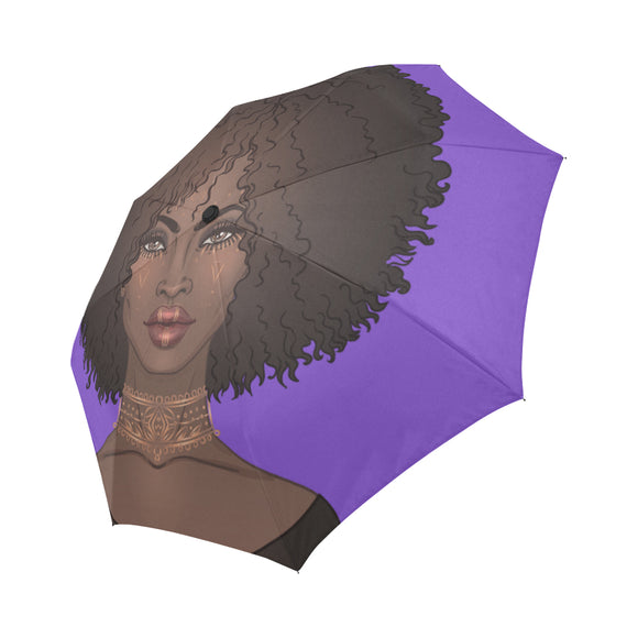 Purple Goddess Afro Umbrella