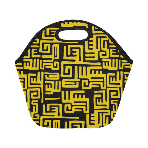 Yellow Tribal Lunch Bag