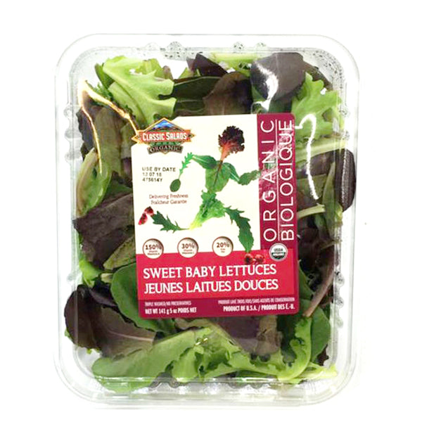 Earthbound Organic Sweet Baby Lettuces 142g