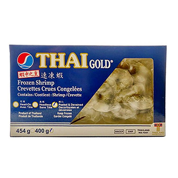 Thai Gold Shrimp Peeled & Deveined 21/25 400g