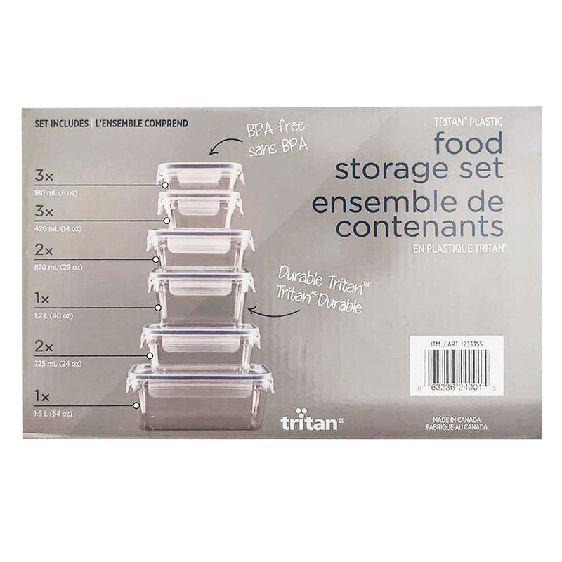 Clearlock Food Storage Box Set-24 pcs