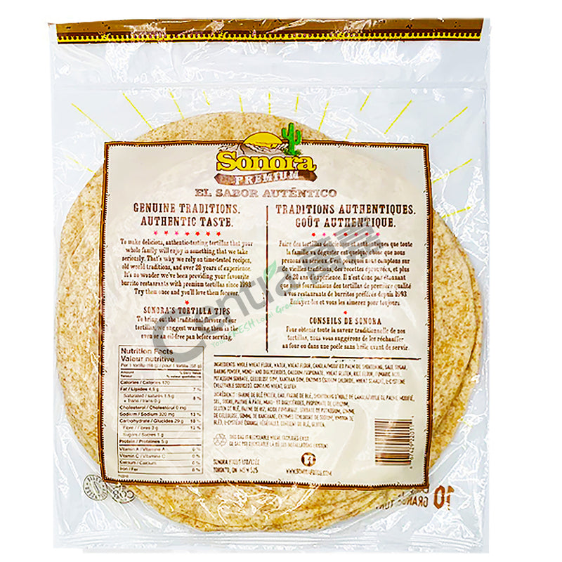 Sonora Tortillas Whole Wheat 680g