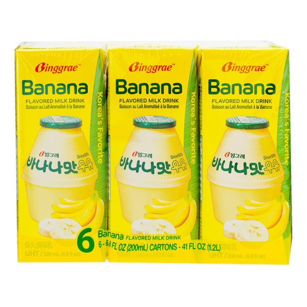 Binggrae Banana Milk Drink 6*200ml
