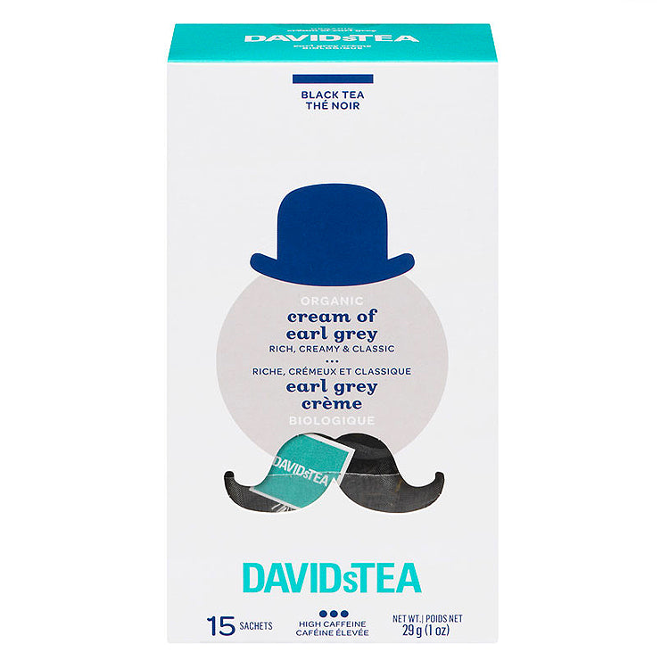 DavidsTea Organic Cream of Earl Grey Tea (15 Sachets)