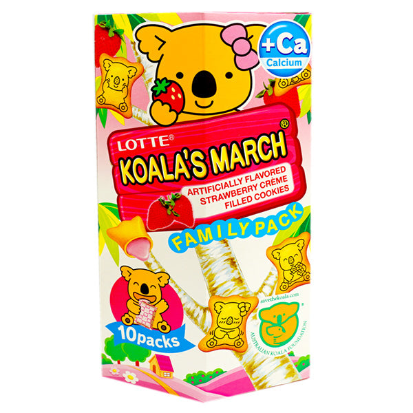 Lotte Koala's March Cookies-Strawberry Cream 195g