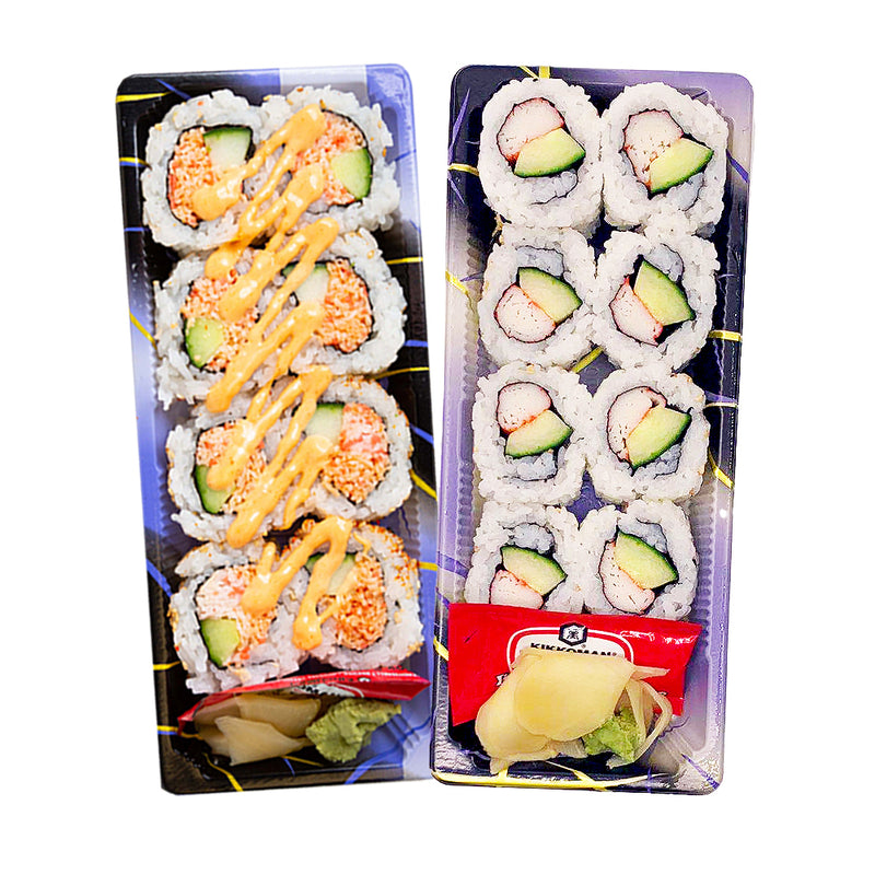 Spicy California Roll & Cucumber California Roll (16 PCS)
