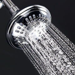 Luxury Spa Series | 4.5 inch Adjustable High Pressure Fixed Shower Head <br /> 6 Spray Settings