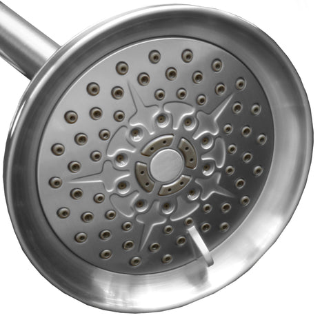 Luxury Spa Series | 5 inch Adjustable High Pressure Fixed Shower Head <br /> 6 Spray Settings
