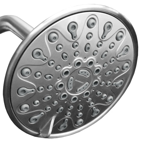 Elite Series | 6 inch Adjustable High Pressure Rainfall Shower Head <br /> 6 Spray Settings