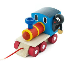 Little Mole and Wooden Toy Train - Happy Go Ducky