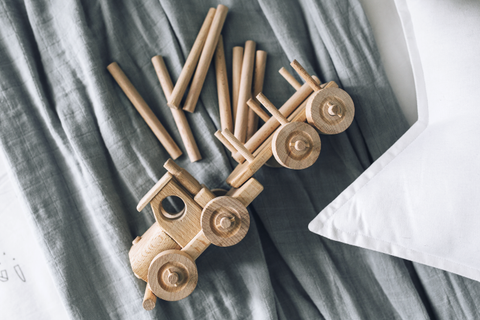 Wooden Toy Truck Toby - Happy Go Ducky