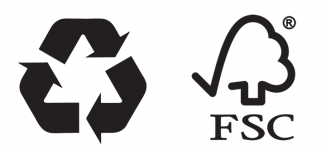 Recycling & FSC logo