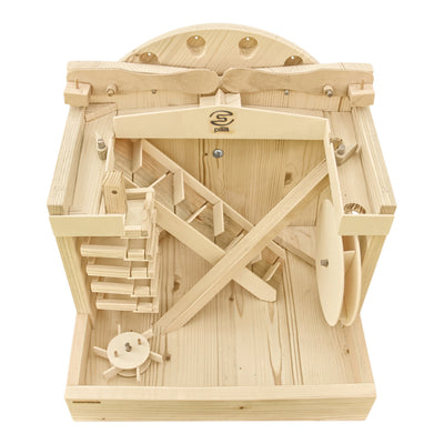 Wooden Toy Marble Run