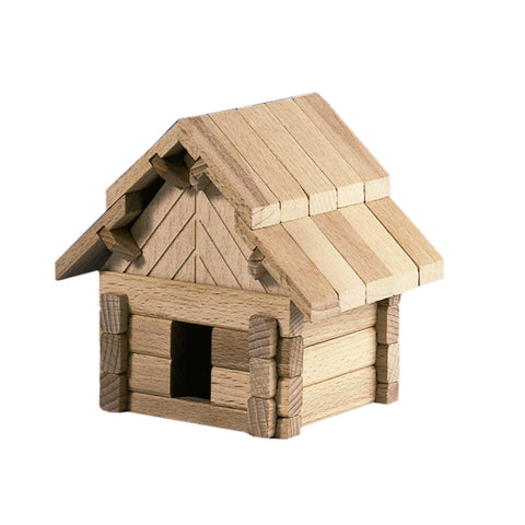 Small Wooden Building Puzzle - Happy Go Ducky