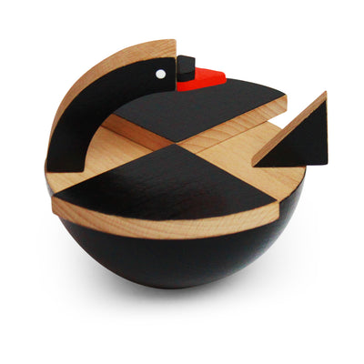 wooden black swan toy