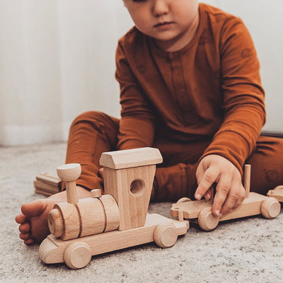 Wooden Toy Cargo Train Set - Thomas