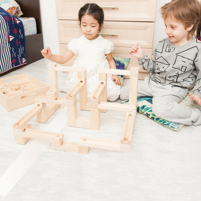 Large Wooden Marble Run - Slides