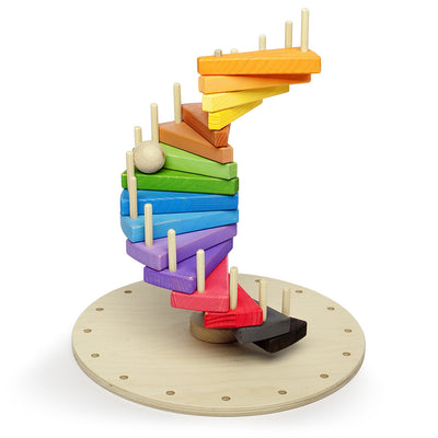 Large Wooden Spiral Educational Puzzle For Kids