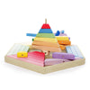 Colourful Wooden Children's Building Puzzle For Early Learning