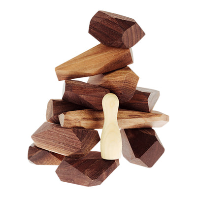 Wooden Stackable Balancing Rocks - Luxe Edition