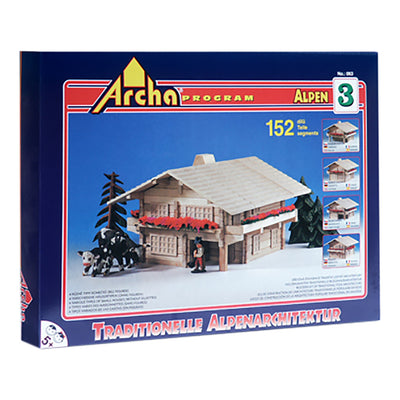 Large Wooden Building Puzzle - The Alpine Resort