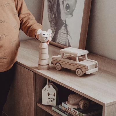 Wooden Toy Vintage Car | Happy Go Ducky