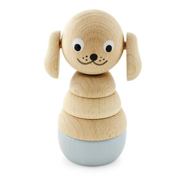 Stacking Wooden Dog Puzzle Toy Nesting Toys Games Puzzles