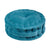 Quilted Round Velvet Floor Cushion - Antique Teal