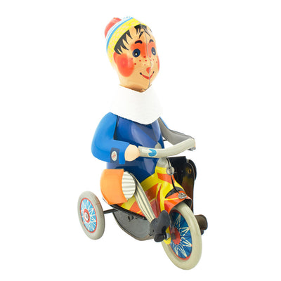 Wind up boy on tricycle toy - Happy Go Duck