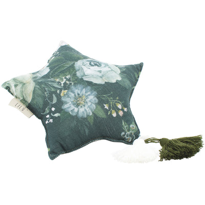 Muslin Star Pillow Small - Dark Peonies