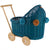 Wicker Dolls Pram - Turquoise (Arriving August)