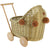 Wicker Dolls Pram - Gold