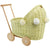 Wicker Dolls Pram - Lemon
