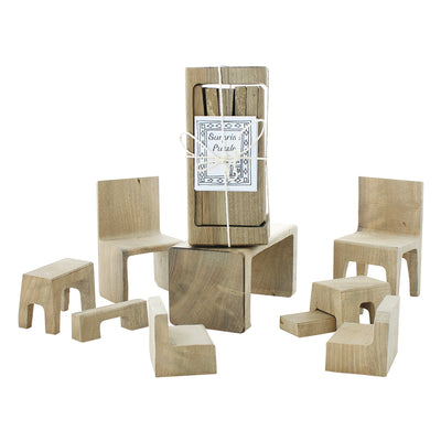 Doll House Furniture Puzzle Set - 9 Pieces