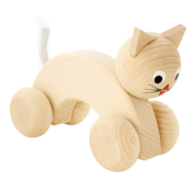 Wooden Push Along Cat - Kitty