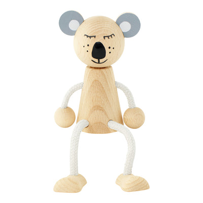 Wooden Sitting Koala - Heath