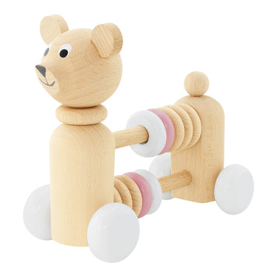 Wooden Bear With Beads - Nala