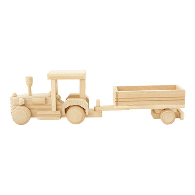 Wooden Tractor With Trailer - Ellie