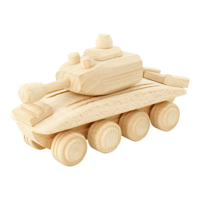 Wooden Toy Army Tank - Walter
