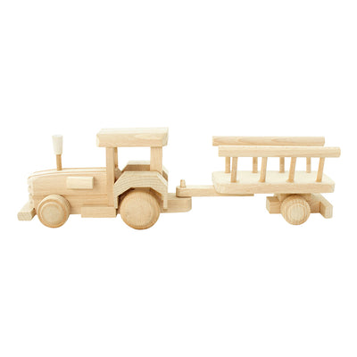 Wooden Tractor With Trailer - Betty