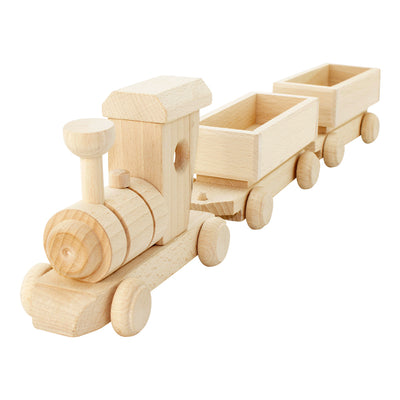 Wooden Toy Cargo Train Set - Pearl
