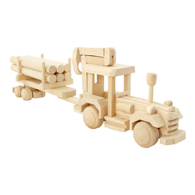 Wooden Tractor With Logs - Fergus