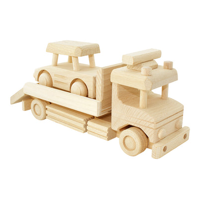 Wooden Tow Truck With Car - Jackson