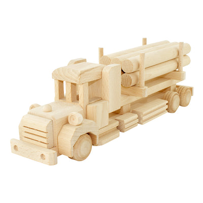 Wooden Truck With Logs - Dallas