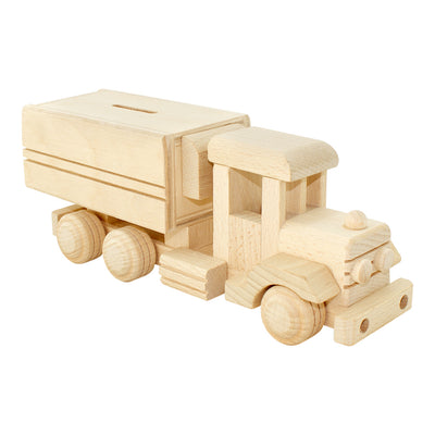 Wooden Money Box Truck Small - Jessie